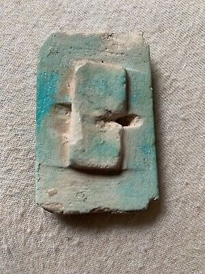 Ancient Egyptian Faience Burial Tile from King Djoser Step Pyramid Saqqara