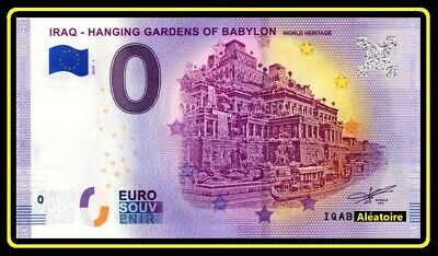 Billet Touristique Souvenir 0 euro - IRAQ - HANGING GARDENS OF BABYLON 2019