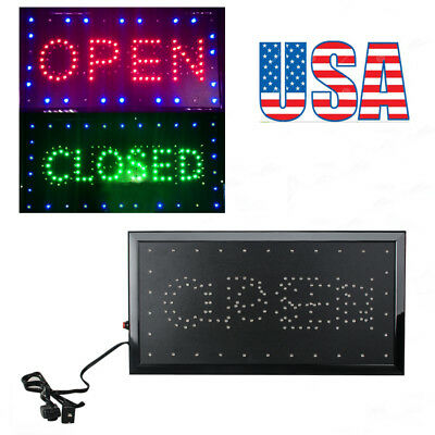 """2in 1 Open & Closed LED Sign Store Shop Display Neon Light 9.8*20.47""""  Newest"""