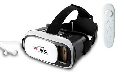 Apachie VR Box Headset, 3D Virtual Reality with Bluetooth control .