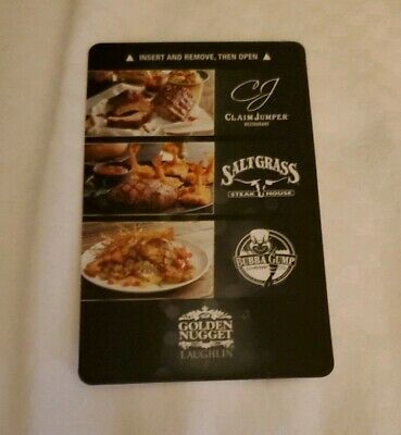 GOLDEN NUGGET Hotel & Casino Laughlin, Nevada Room Key Card