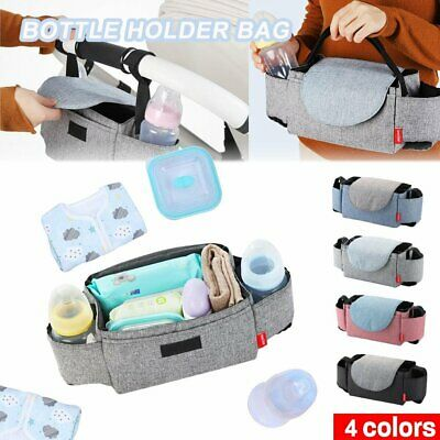 Baby Cup Pushchair Pram Buggy Storage Stroller Organiser Bottle Holder Bag DM
