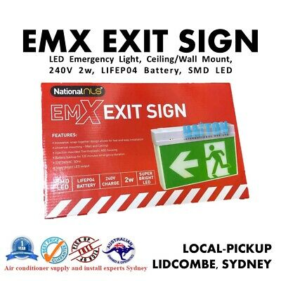 3A Lighting LED Emergency Exit Sign Light Ceiling Wall Mount Slide Connect 24m