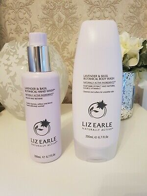 Liz Earle Lavender And Basil Hand And Body Wash Set. 200ml each. Brand new