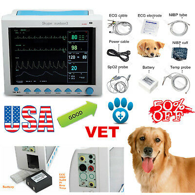 USA STOCK CMS8000VET Vital Signs Monitor 6-parameter Veterinary,animals Dog/cat