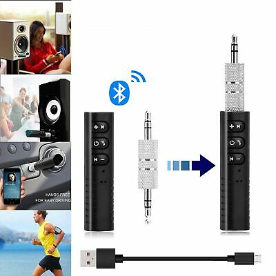 Inalámbrico 3.5mm Jack Bluetooth Receptor Audio Adaptador Coche AUX Auriculares