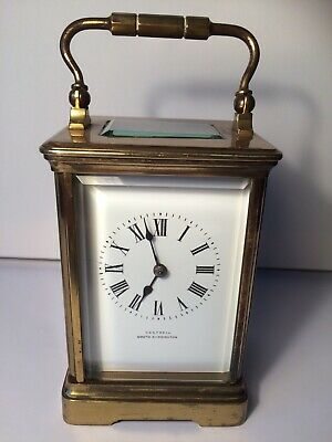 Antique French 8 Day Chiming Carriage Clock CASTRELL SOUTH KENSINGTON With Key