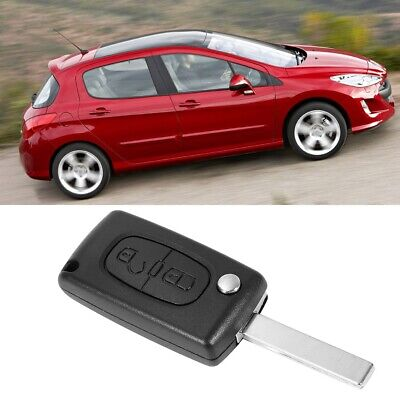 2 Button Replace Remote Key Loking Fob 433MHz ID46 Chip Fits Peugeot 307 308 207