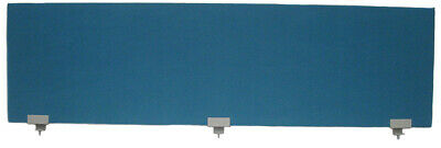 Office Desk Partition / Divider Teal with Grey Clamps1800mm x 500mm x 30mm - NEW