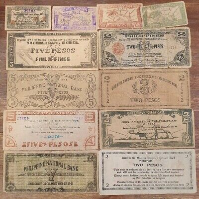 PHILLIPINES - Selection of 12 VERY OLD Bank Notes