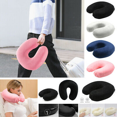 Memory Foam U Shaped Travel Pillow Neck Support Head Rest Cushion 8Colors