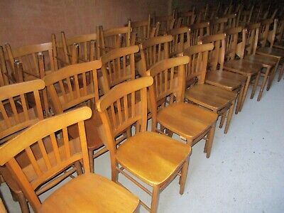 VINTAGE CHAPEL. CHURCH. DINING CHAIRS WITH BOOK HOLDERS. Delivery possible.