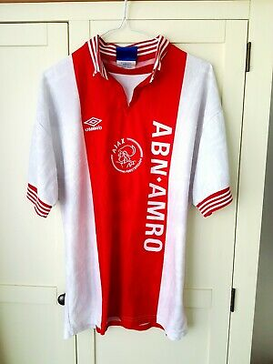 Ajax Home Shirt 1994. Medium. Umbro White Adults Short Sleeves Football Top Only