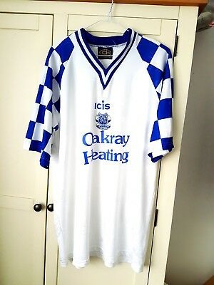 Enfield Home Shirt 1992. XL. White Adults Short Sleeves Football Top Only.