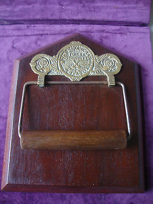Genuine antique Victorian  toilet roll holder