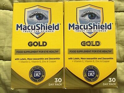 2 boxes Macushield Gold 90 Capsules BB 06/2021
