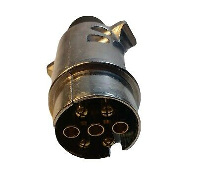 7 Pin Trailer Plug Aluminium Towing Self Wire 12V 12N Car Van Maypole Mp24B