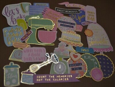 30 Die Cut Paper Shapes Baking Kitchen Scrapbooking Embellishment Cards Tags