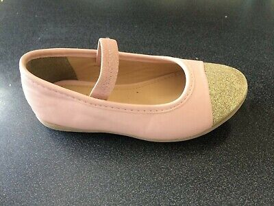 M&S Marks & Spencer  Girls UK10 EU24 pink  Ballerina Flats Shoes ex display