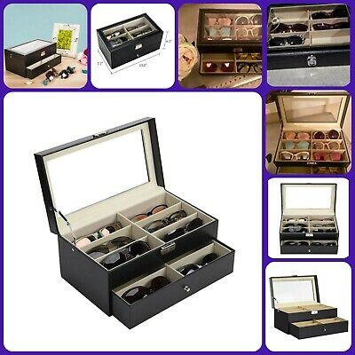 Sunglasses Organizer Eyewear Display Case Eye Glasses Storage Box Jewelry Boxes