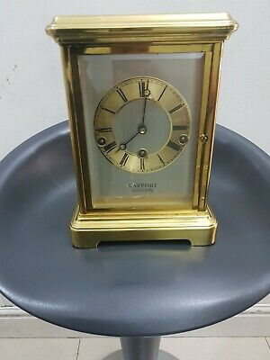 Carriage Clock rapport of london With  Brass & Glass