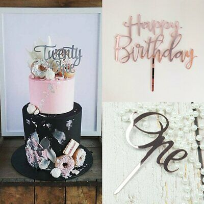 Cake Topper Wild One Number Baby Boy Girl Wooden Birthday Party Decor Supply YU