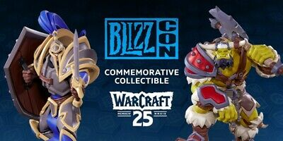 Two BlizzCon 2019 Pass Tickets including One of each Statue (Footman and Grunt)