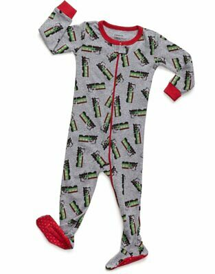 Leveret Kids Pajamas Baby Boys Girls Footed Pajamas Sleeper 100% Cotton (Size