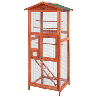 i.Pet Bird Cage Wooden Pet Cages Aviary Large Carrier Travel Canary Cockatoo