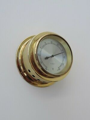 Wempe Chronometerwerke Hamburg  Schiffs - Thermometer Martime Messing Glas