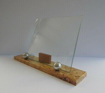 ANTIQUE VINTAGE FRENCH ART DECO 1920s 30s MARBLE PICTURE PHOTOGRAPH FRAME