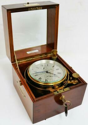 Rare Antique 2 Day Louis Weule Co No12025 Boxed Fusee Ships Marine Chronometer