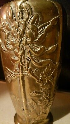 BEAUTIFUL ANTIQUE DECO ART NOUVEAU BRONZE/BRASS VASE. VESSEL URN Approx 7.5-8""