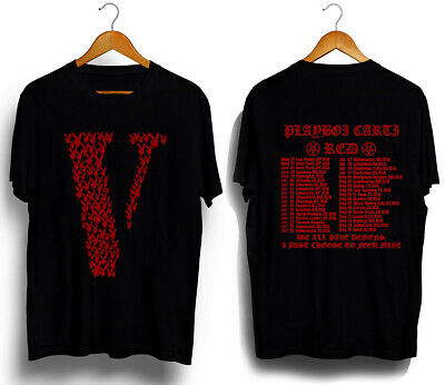 Playboi Carti Vlone Die Lit RED WE ALL HAVE DEMONS Black t-shirt US size S-5XL