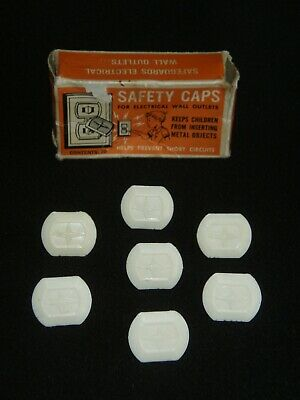 Vintage Safety Caps - Electrical Wall Outlet Covers