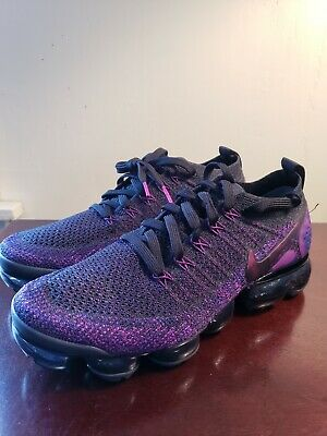 Nike Air Vapormax Flyknit 2 Black Night Purple 942842 013 Size 8 RARE