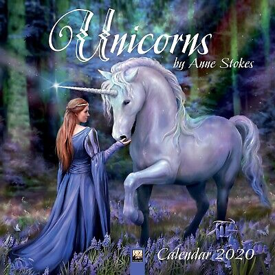 Unicorns by Anne Stokes 2020 - 16 Month Square Wall Calendar