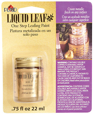 Liquid Leaf Paint One Step Leafing Paint, 0.75-Ounce, Original Bright Classic
