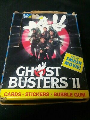 1989 Topps • Ghost Busters II • Trading Card Box • 36 Wax Packs