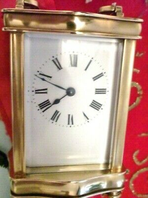 French Clock By Couillet Freres 1900S With. Swiss 11 Jewel Platform/ Key V.g.c