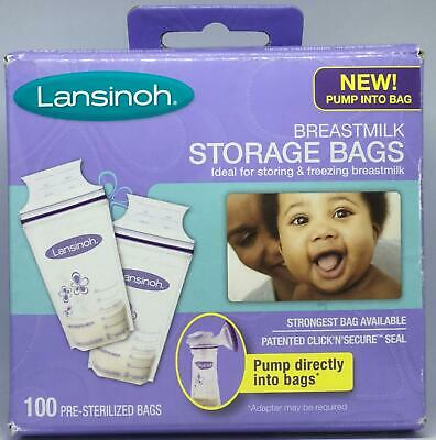 Lansinoh Breastmilk Storage and Freezing Bags 100 Count