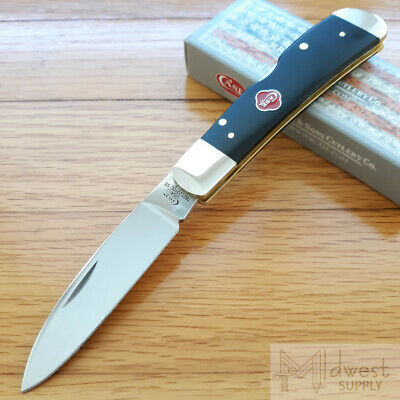 Case XX Tribal Lock Folding Knife Stainless Steel Blade Black Synthetic Handle