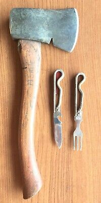 Vintage GENUINE PLUMB Boy of Scouts America CAMP AX Schrade BSA Mess Utensil Kit