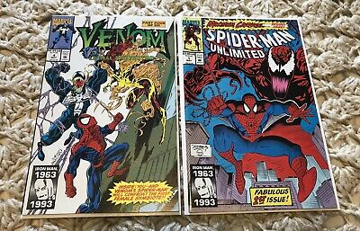 VENOM LETHAL PROTECTOR 4 and SPIDER-MAN UNLIMITED #1 1st Shriek And Scream VF+