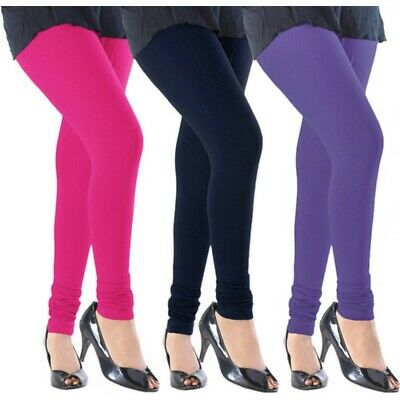 Ladies Women Viscose Plain Stretchy Soft Leggings With Elasticated Waist