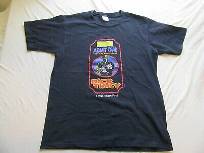 Mens Vintage Dick Tracy Movie Ticket T Shirt Size L
