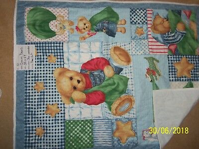 10 BOY/GIRL TO CHOOSE baby QUILT blanket PERSONALIZED bear Noahs Ark