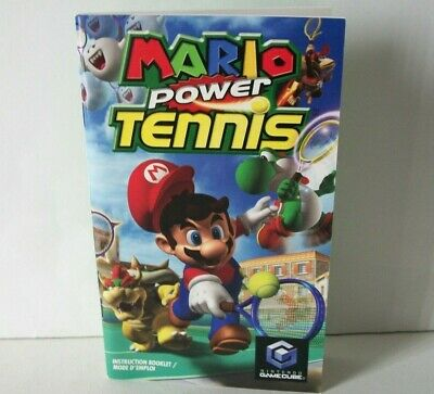 Mario Power Tennis Manual Only NO GAME Nintendo GameCube Instruction Booklet