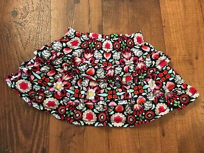 Hannah Anderson Size 80 (12-24 Months) Multi-Colored Floral Tiered Ruffled Skirt