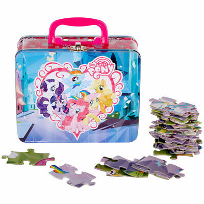 MY LITTLE PONY 48 pcs Puzzle in Tin Lunch Box Girls Kids Gift Bag NEW